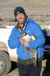 Alan with sage-grouse