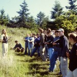 Introductory Biology students on field trip to Palomarin Bird Banding Station